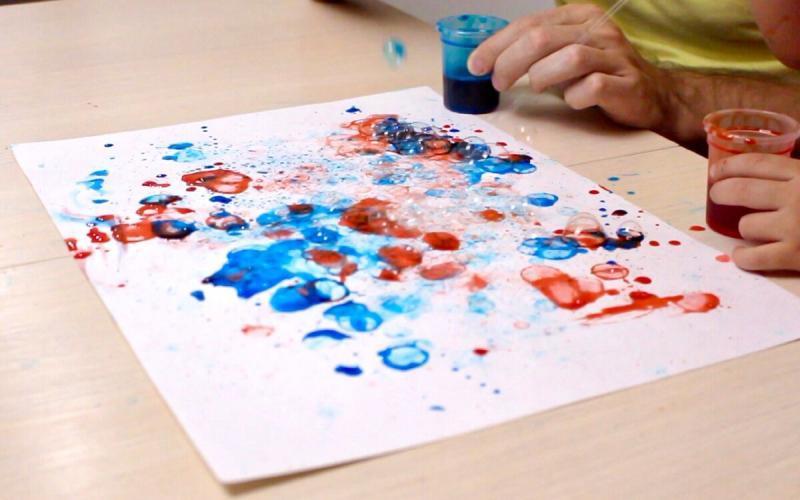 Польза мыльных пузырей, или необычный способ рисования