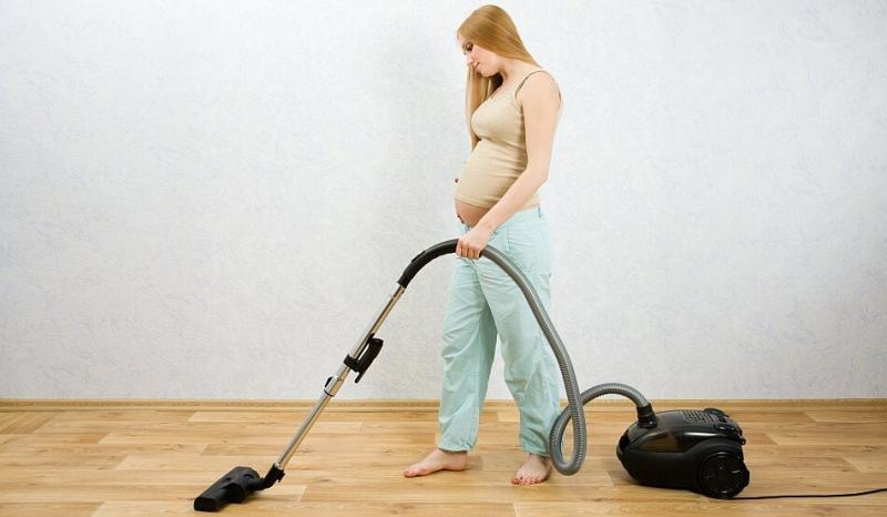 Как убираться во время беременности