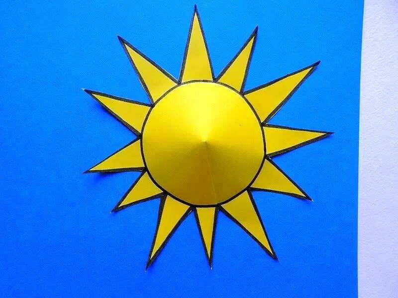 Поделка на день защиты детей: Аппликация солнышко