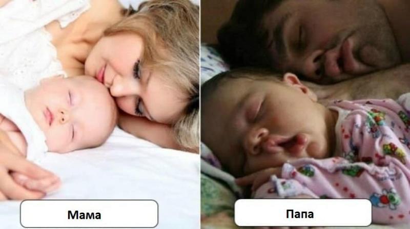 5 забавных различий между мамами и папами
