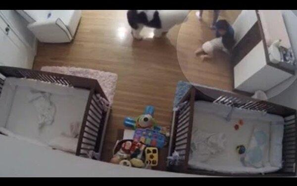 Мгновение назад: 9-летний мальчик чудом спас своего брата, упавшего с пеленального столика